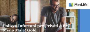 """""""Meno Male! Gold"""", l'assicurazione per il lavoro e per il tempo libero"""